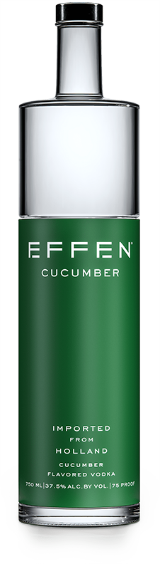 EFFEN Cucumber Vodka bottle shot
