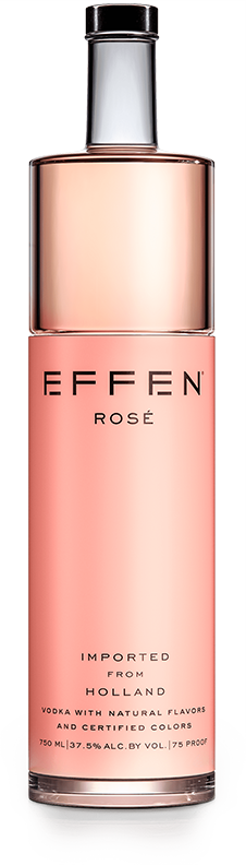 EFFEN Rose Vodka bottle shot
