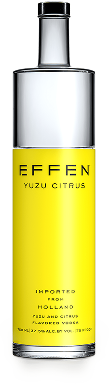 EFFEN Citrus Yuzu Vodka bottle shot