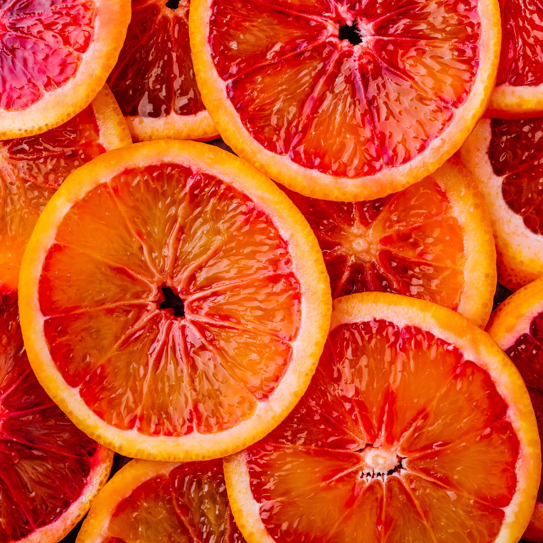 Fresh blood oranges are the base for the EFFEN blood orange flavored vodka.