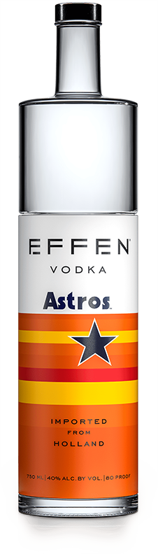 EFFEN Astros Vodka bottle shot