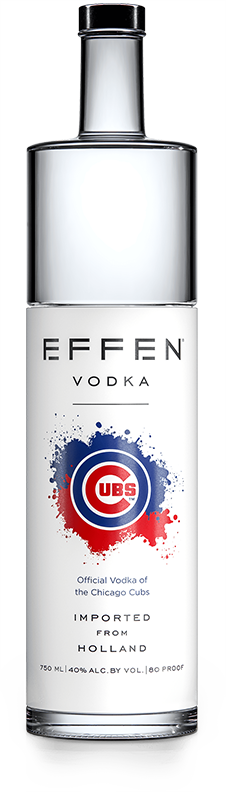 EFFEN Cubs Vodka bottle shot