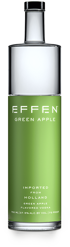 EFFEN Green Apple Vodka bottle shot