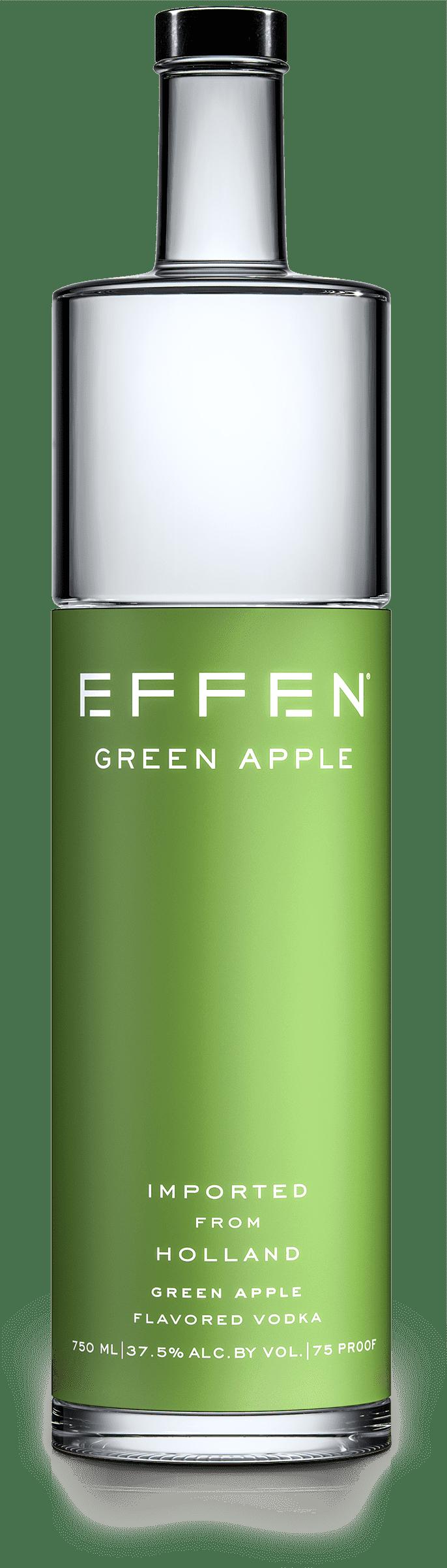 EFFEN Green Apple Vodka bottle shot