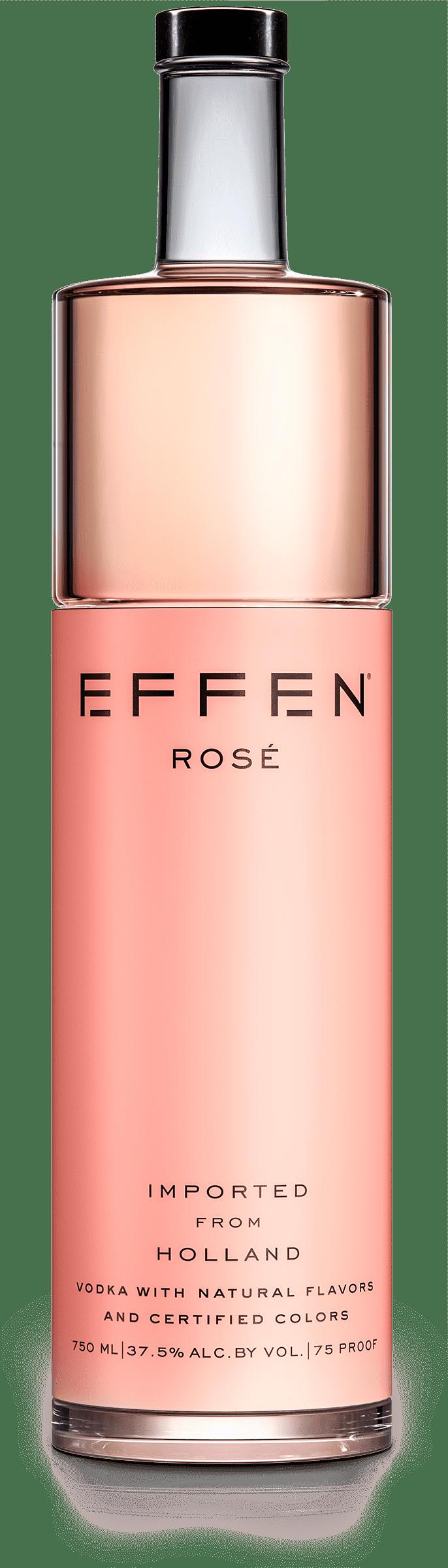 EFFEN Rose Vodka bottle shot