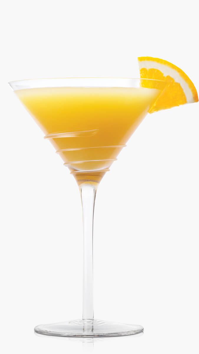 Orange dreamsicle with EFFEN Original, DeKuyper Triple sec, fresh orange juice and heavy cream.