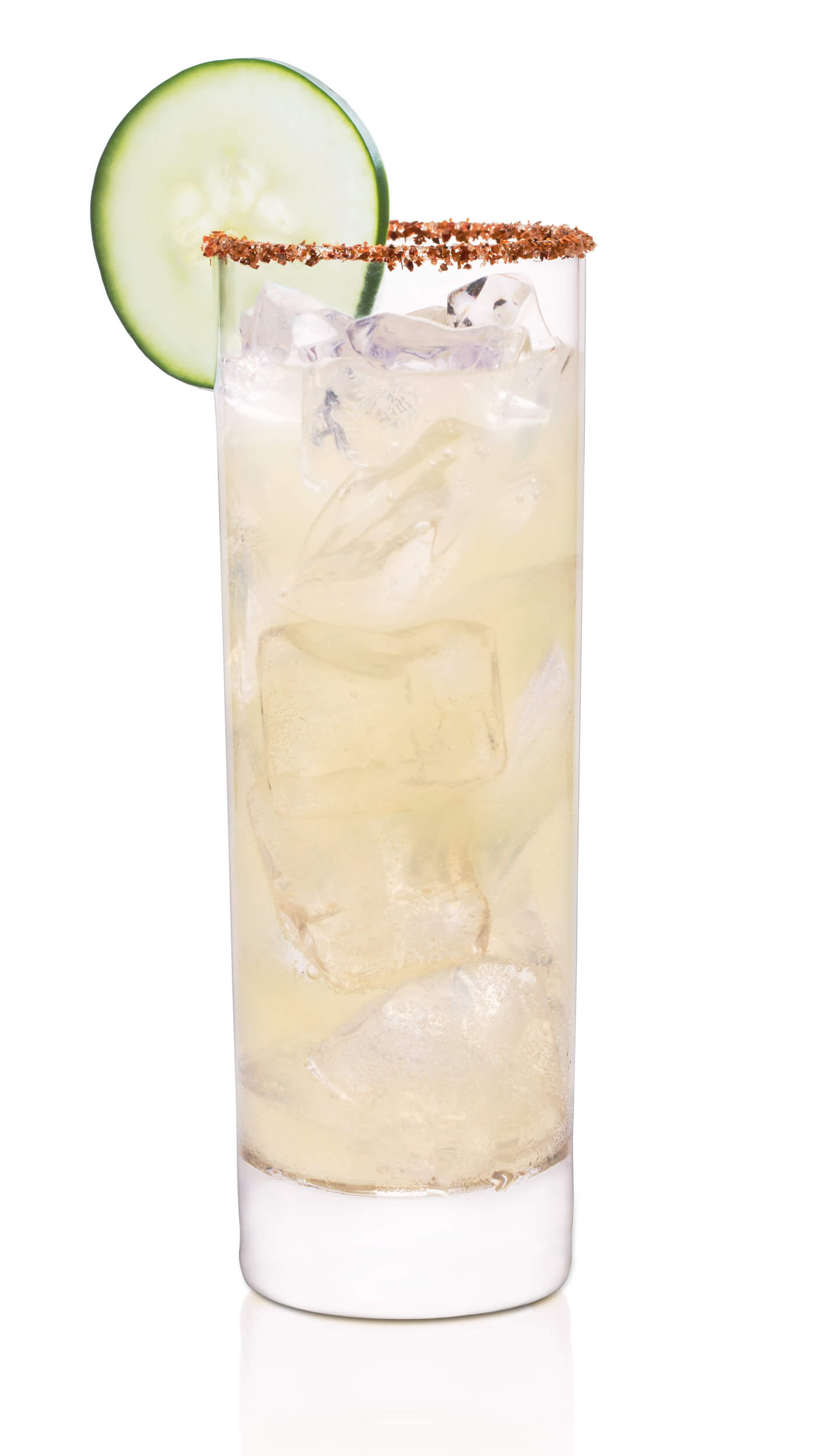 Pepino drink with EFFEN Cucumber Vodka, with a splash of lime juice and a cucumber wheel.