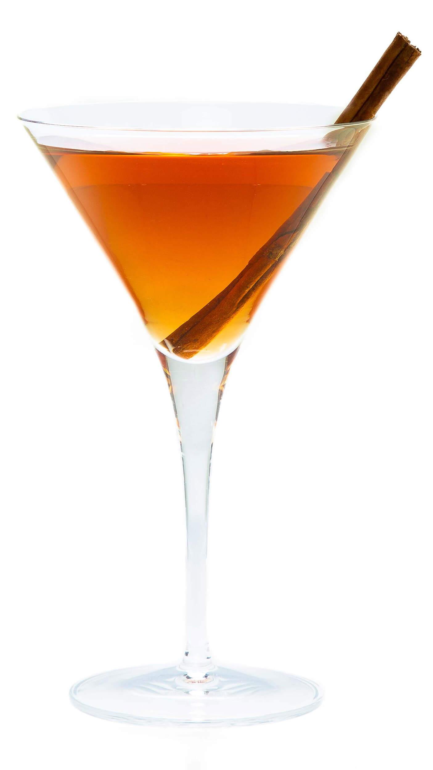 Pomegranate vodka coktail with EFFEN Vodka, DeKuyper Pomegranate Schnapps and Hot Apple Cider.