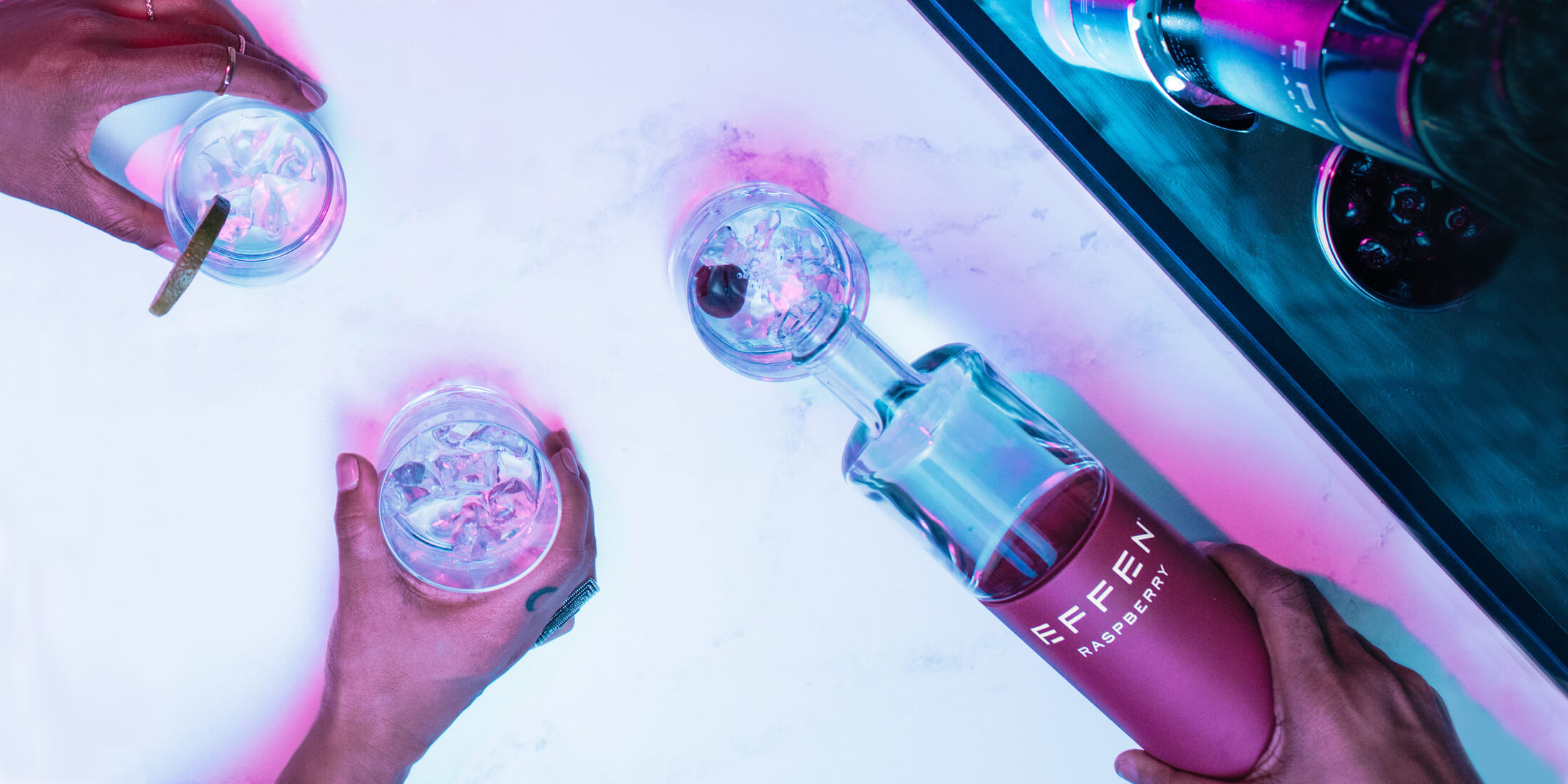 Rasperry vodka by EFFEN is the right drink for every occassion.