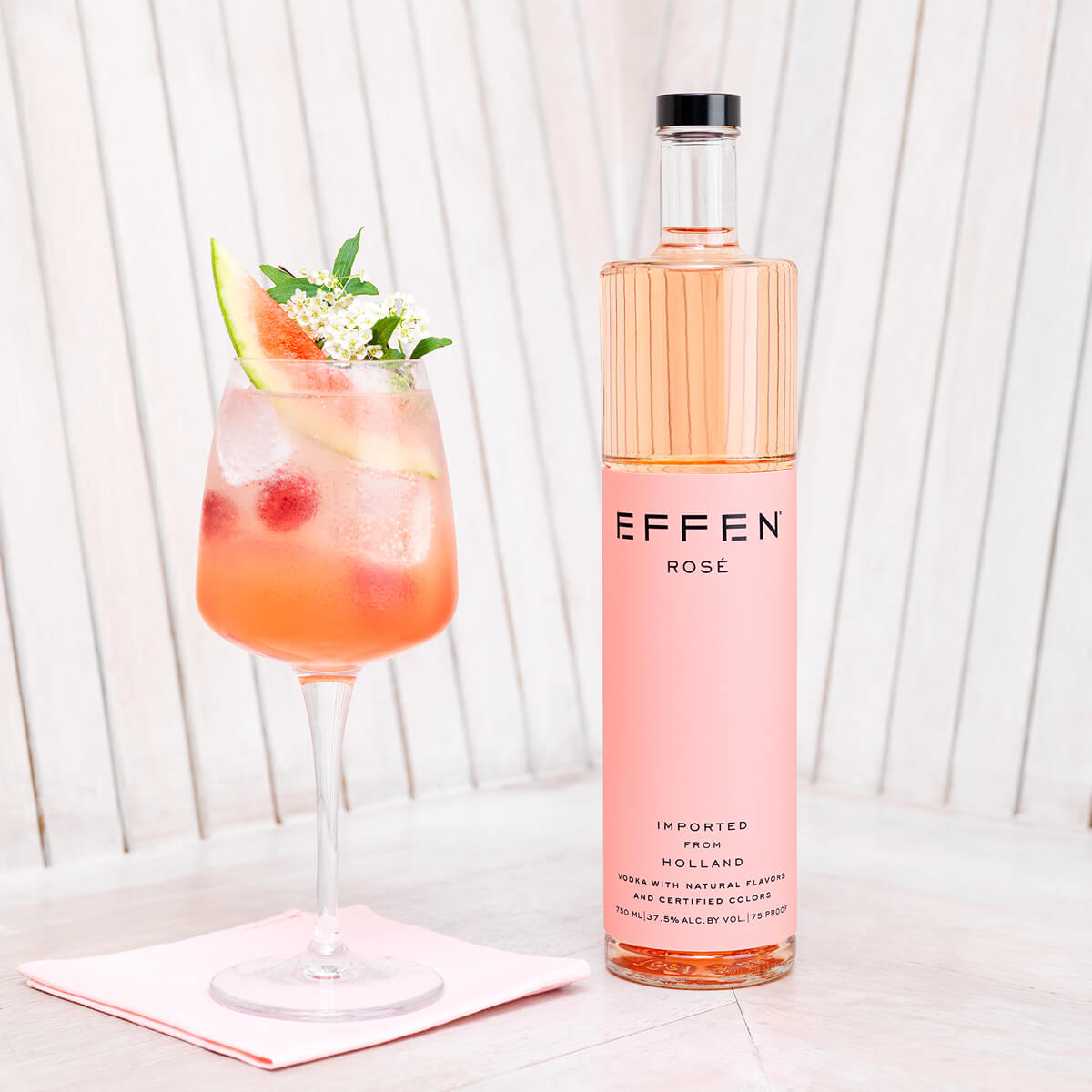 EFFEN rose vodka makes your life more colorful.