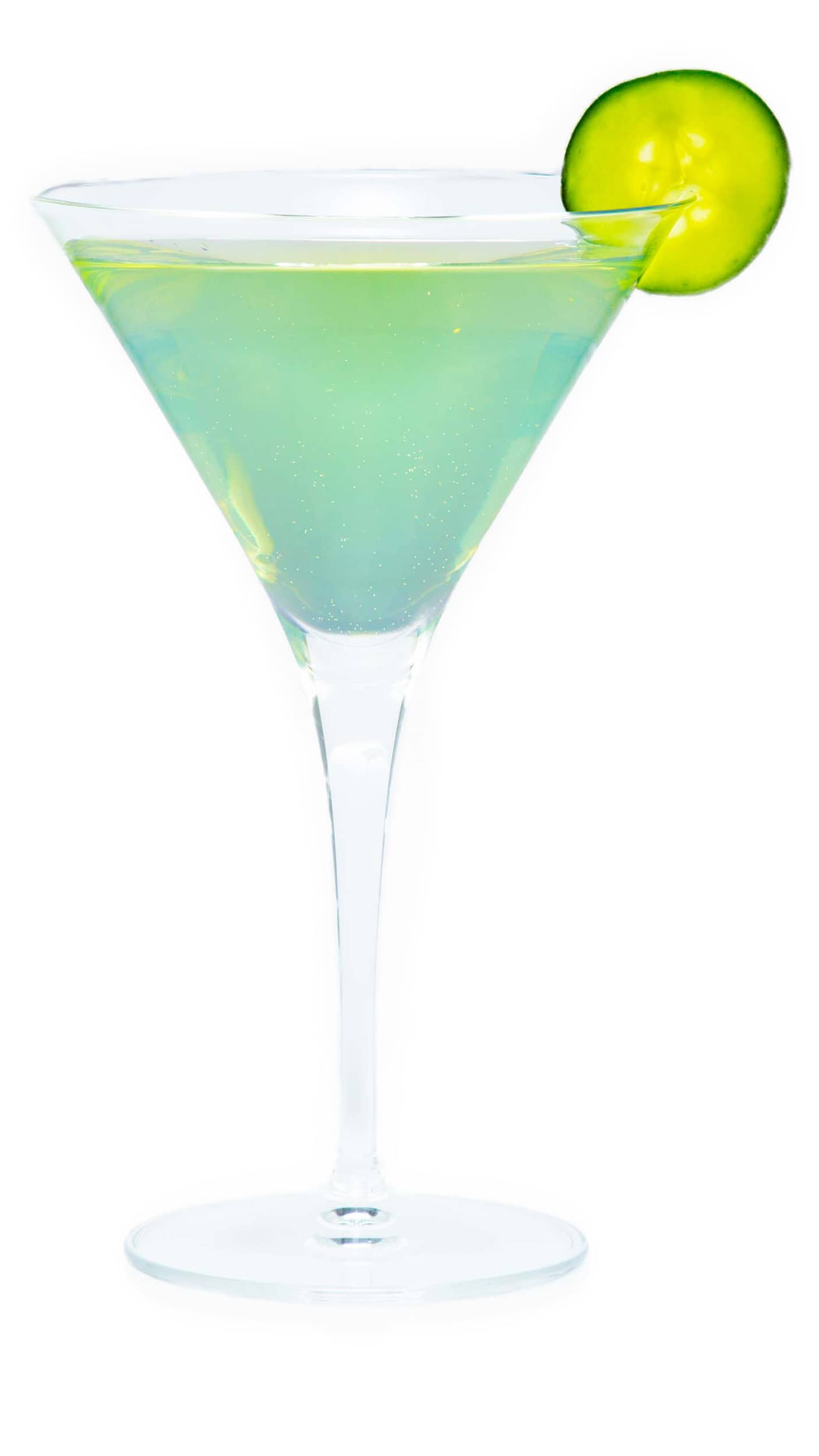Cucumber martini with EFFEN Cucumber Vodka, dry white vermouth, absinthe and a cucumber wheel.