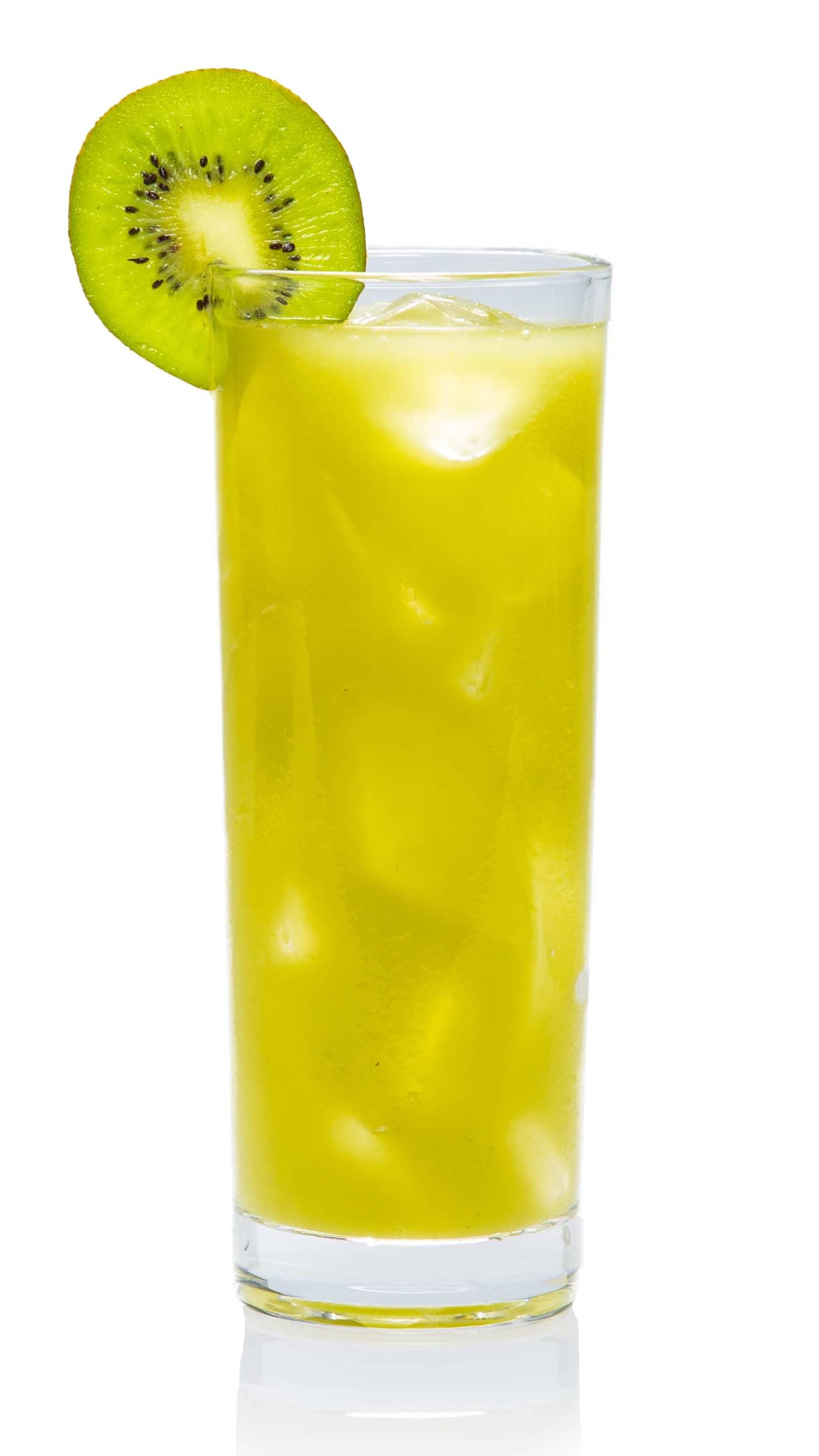 Kiwi sweet sour drink with EFFEN Cucumber Vodka, maraschino liqueur, kiwi and fresh lime juice.