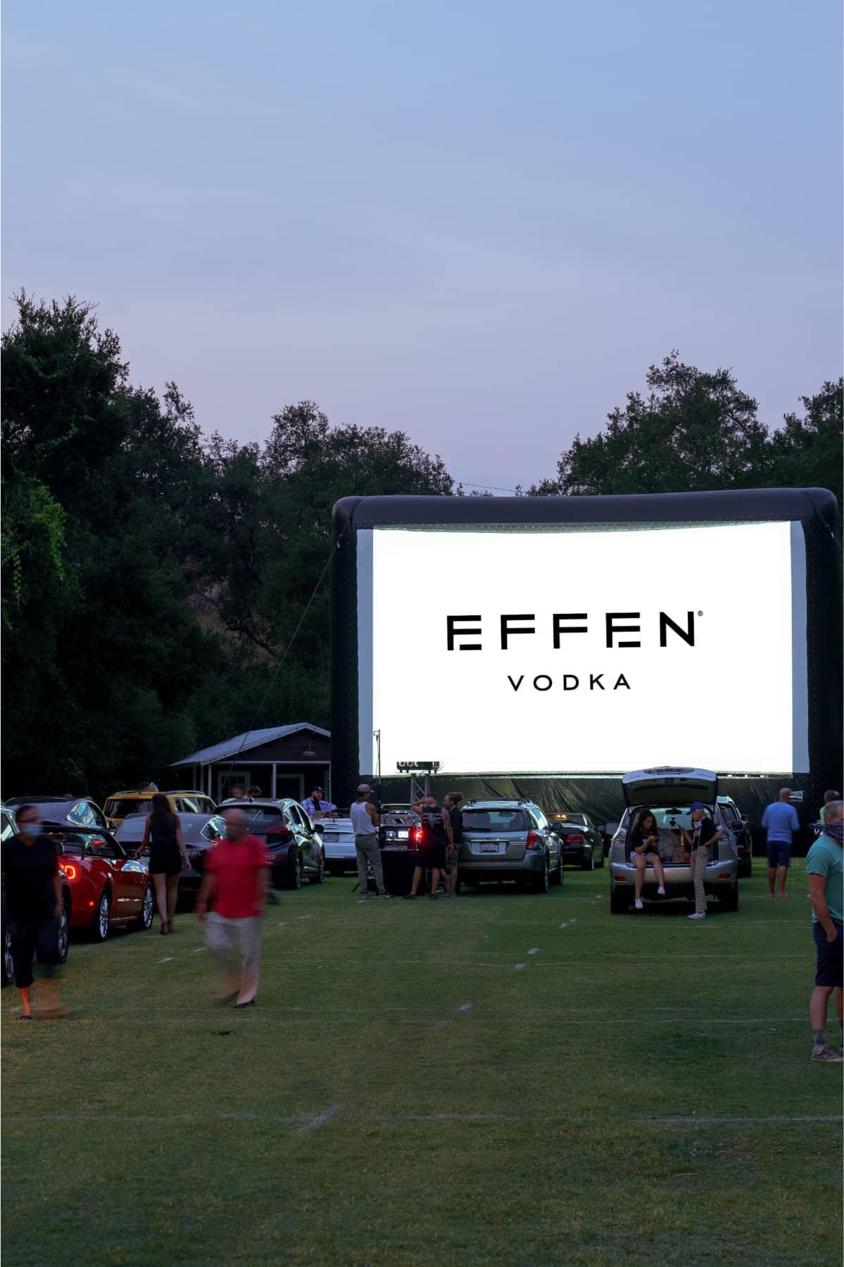 Cinema advertisement of EFFEN Vodka.