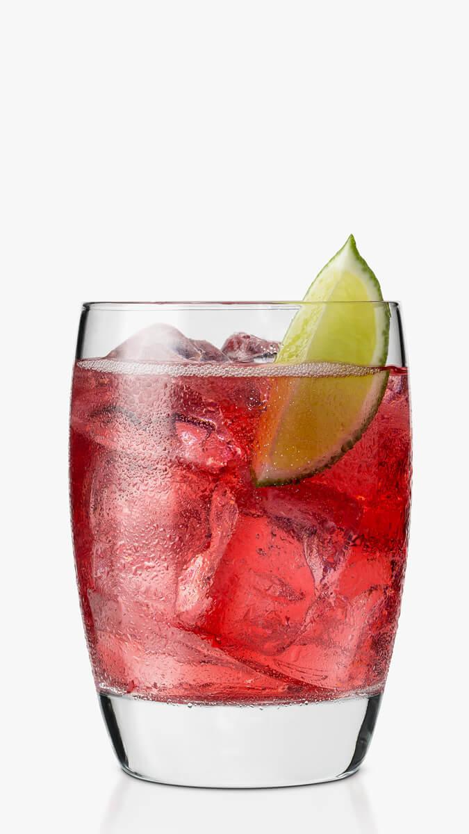 Raspberry caipiroska cocktail with EFFEN Raspberry, sugar-free raspberry preserves and lime juice.
